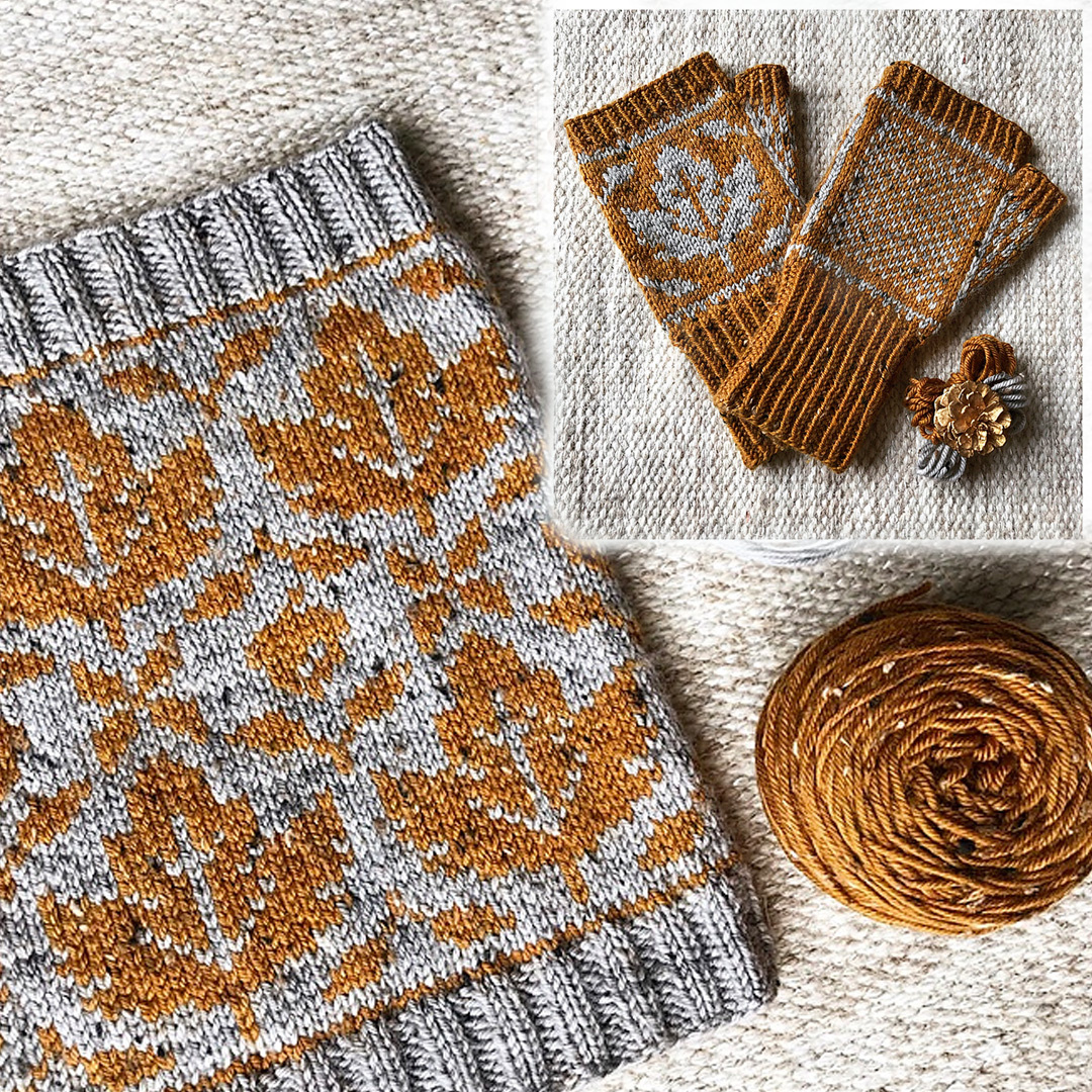 Feature Pattern of the Week - Love Autumn Cowl & Mitts