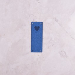 Image of Katrinkles Faux Suede Heart Foldover Tag, Cobalt Blue