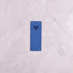 Image of Katrinkles Faux Suede Heart Foldover Tag, Cobalt Blue