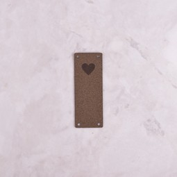 Image of Katrinkles Faux Suede Heart Foldover Tag, Brown
