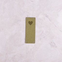 Image of Katrinkles Faux Suede Heart Foldover Tag, Green