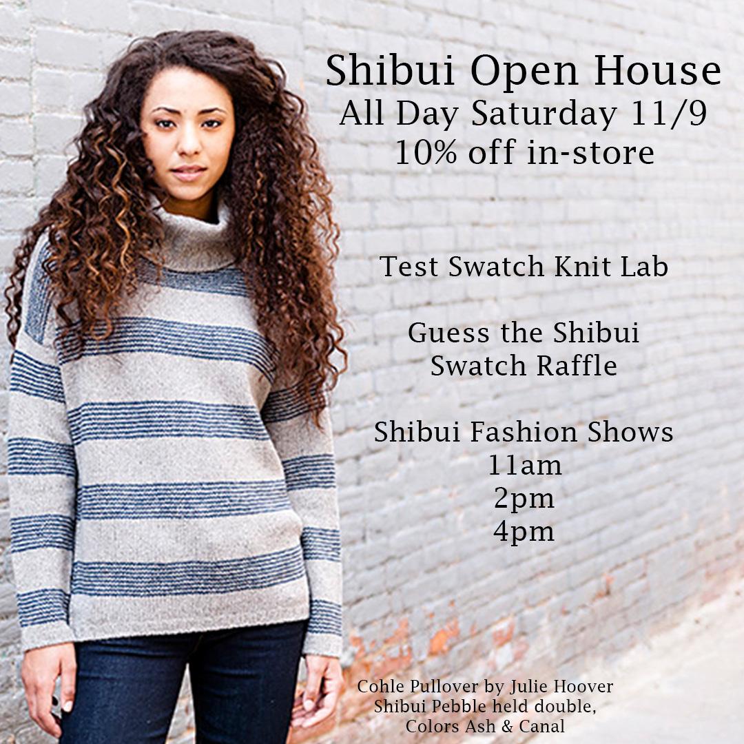 Shibui Open House Saturday 11/9