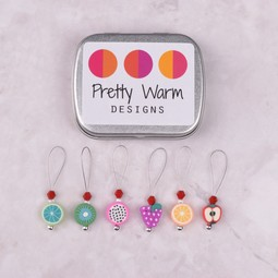 Image of Pretty Warm Designs Assorted Fruit Bead Stitch Markers, 6 ct.