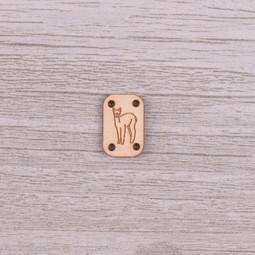 Image of Katrinkles Sew-on, Wood Alpaca Tag