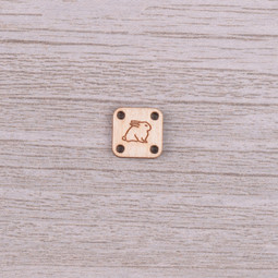 Image of Katrinkles Sew-on, Wood Rabbit Tag