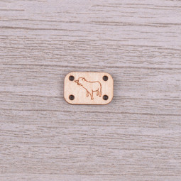 Image of Katrinkles Sew-on, Wood Sheep Tag