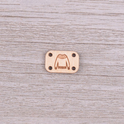 Image of Katrinkles Sew-on, Wood Sweater Tag