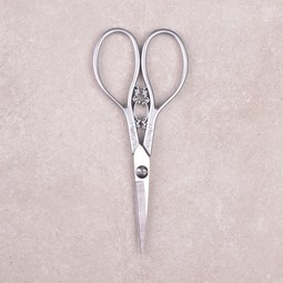 Image of Floral Teardrop Scissors, Silver