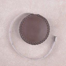 Image of Hand-Stitched Leather Tape Measure, Espresso