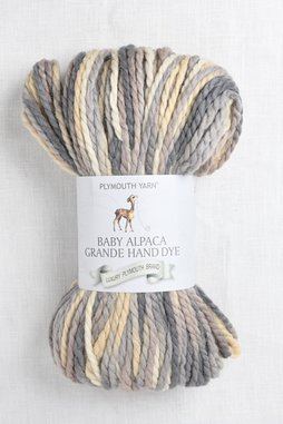Image of Plymouth Baby Alpaca Grande Hand Dye 36 Grey Butter Mix