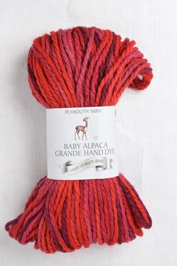 Image of Plymouth Baby Alpaca Grande Hand Dye 4 Red Mix