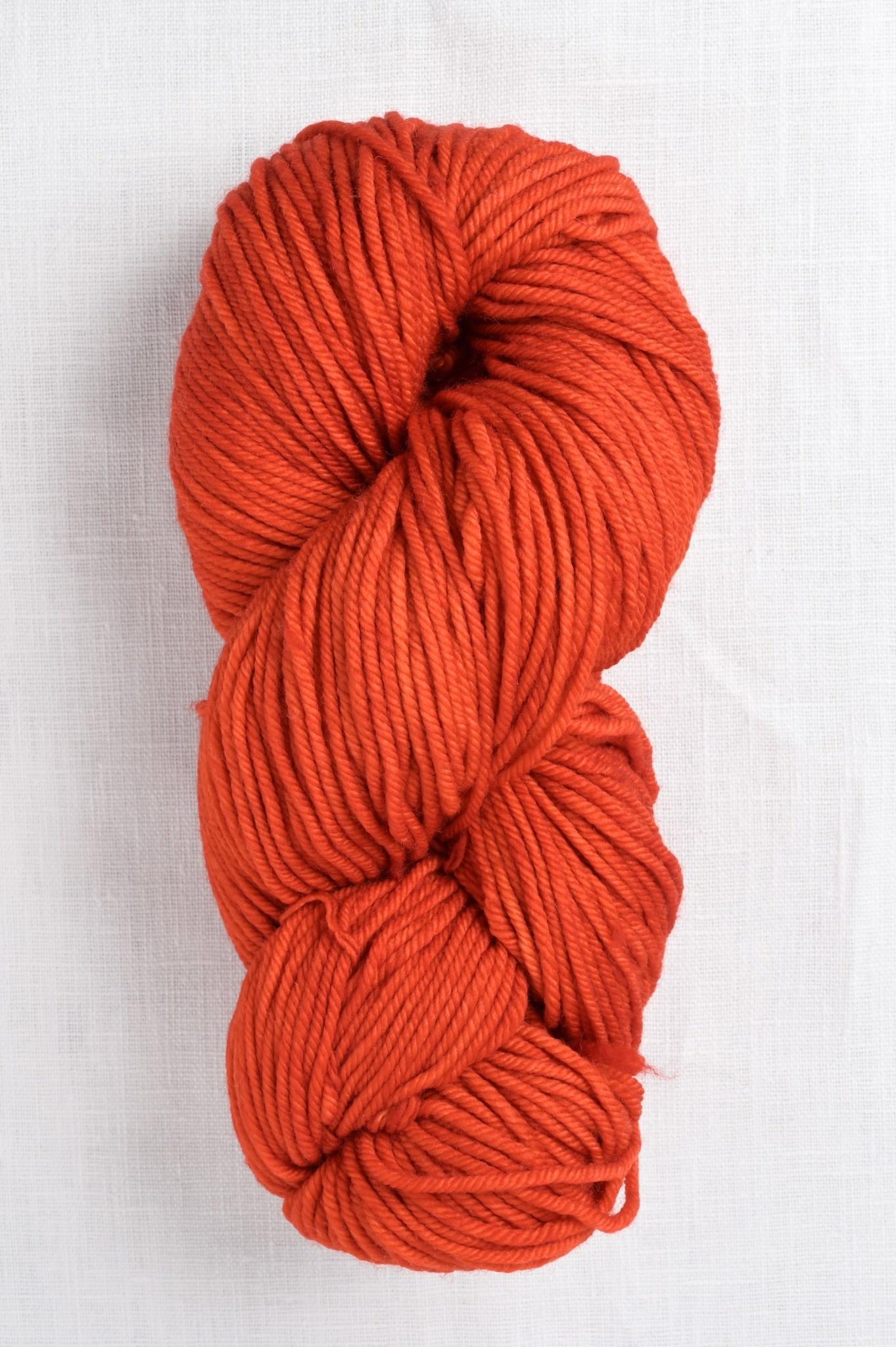 4 ply Worsted Weight Yarn Malabrigo Merino Wool Rios in Glazed Carrot