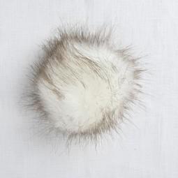 Image of Faux Fur Pom Pom White Fox, Tie Closure