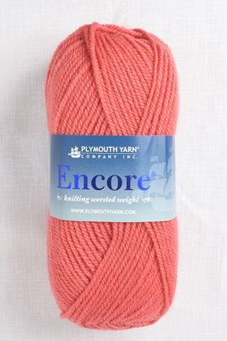 Image of Plymouth Encore Worsted 461 Living Coral