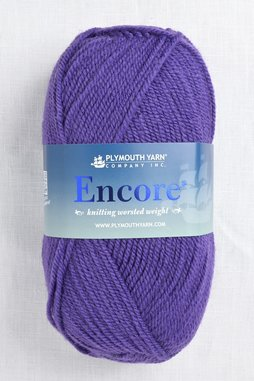 Image of Plymouth Encore Worsted 1606 Purple Bell