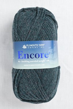 Image of Plymouth Encore Worsted 670 Dark Greenfrost Mix