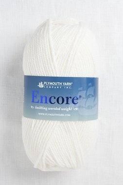 Image of Plymouth Encore Worsted 208 White
