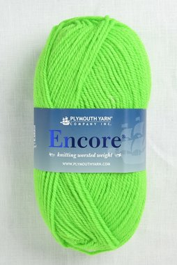 Image of Plymouth Encore Worsted 477 Neon Green