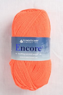 Image of Plymouth Encore Worsted 479 Neon Orange