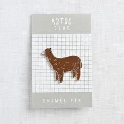 Image of Quince Alpaca Enamel Pin, Brown