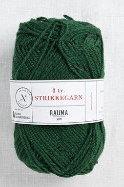 Image of Rauma 3-Ply Strikkegarn 123 Deep Green