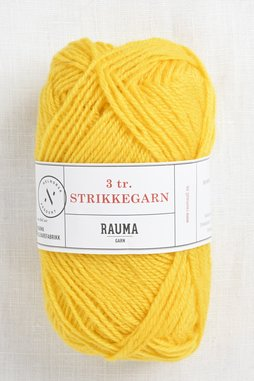 Image of Rauma 3-Ply Strikkegarn 125 Yellow