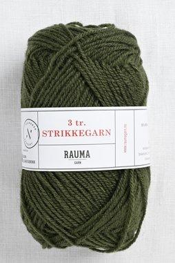Image of Rauma 3-Ply Strikkegarn 1561 Dark Moss Green