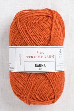 Image of Rauma 3-Ply Strikkegarn 177 Dark Orange