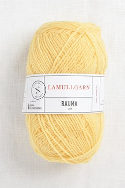 Image of Rauma 2-Ply Lamullgarn 20 Light Yellow