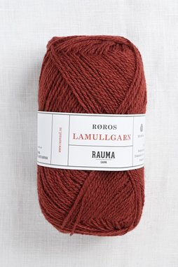 Image of Rauma 2-Ply Lamullgarn 29 Medium Red Brown