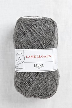 Image of Rauma 2-Ply Lamullgarn 5 Dark Grey Heather