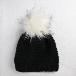 Image of Faux Fur Pom Pom Arctic, Snap Closure