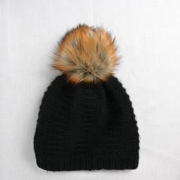 Image of Faux Fur Pom Pom Reynard, Snap Closure