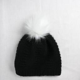 Image of Faux Fur Pom Pom Snow, Snap Closure