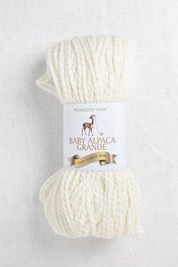 Image of Plymouth Baby Alpaca Grande 501 Bright White