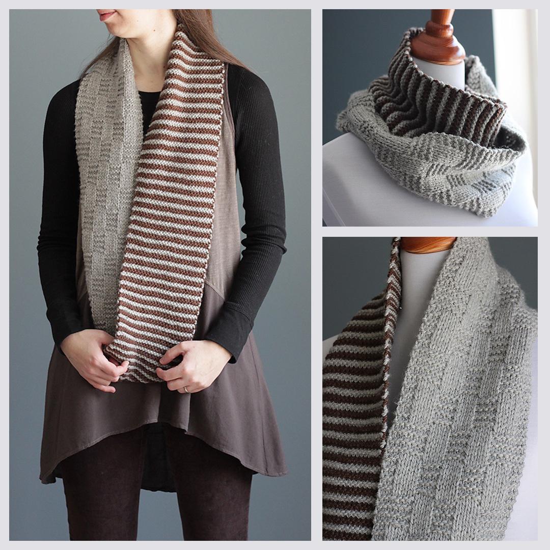 Feature Pattern of the Week - Stripe & Basket Cowl