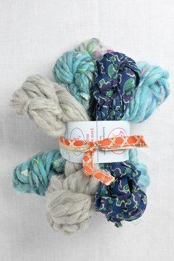 Image of Knit Collage Mini Skein Sampler Set  Foggy Blue