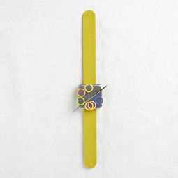 Image of Cocoknits Maker's Keep, Magnetic Knitter's Bracelet, Chartreuse