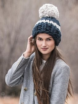 Image of Jumbo Pom Hat