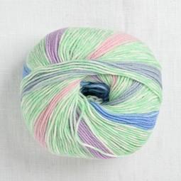Image of Lang Merino 200 Bebe Color 558 Mint Pastel Stripe