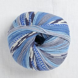 Image of Lang Merino 200 Bebe Color 333 Blue Grey Colorwork Print