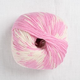 Image of Lang Merino 200 Bebe Color 419 Pink Colorwork Print