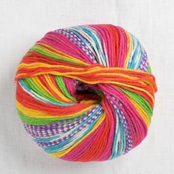 Image of Lang Merino 200 Bebe Color 313 Rainbow Bold Colorwork Print