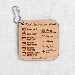 Image of Katrinkles Wash Instruction Labels Fob