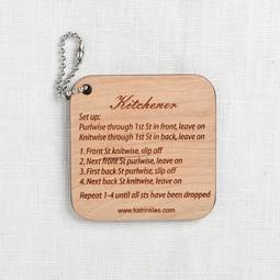 Image of Katrinkles Wood Kitchener Stitch Instruction Fob