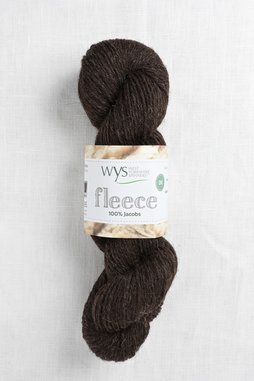 Image of WYS Fleece 100% Jacobs DK 007 Brown/Black (Undyed)