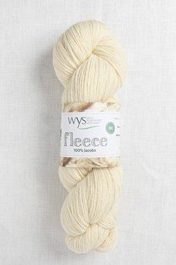 Image of WYS Fleece 100% Jacobs DK 001 Ecru (Undyed)