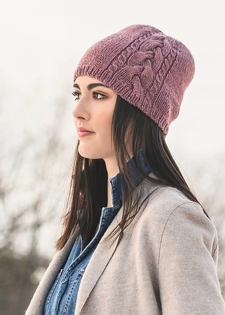 Blue Sky Fibers Claremont Cabled Hat Kit