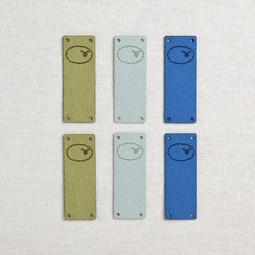 Image of Katrinkles Faux Suede Foldover Sheep Tags, Blues, 6 ct.