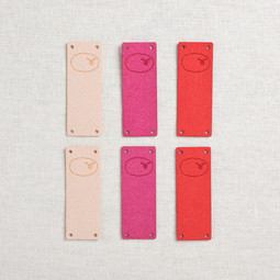Image of Katrinkles Faux Suede Foldover Sheep Tags, Pinks, 6 ct.